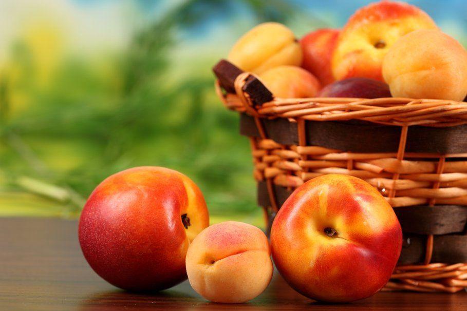 Fruits - Pêches - Panier - Wallpaper - Free