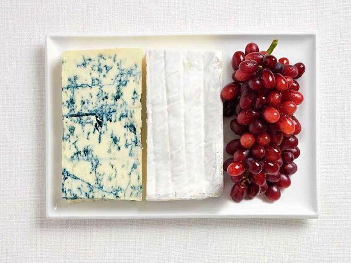Bon appétit - Drapeau - Fromages - Raisins - France - Picture - Free