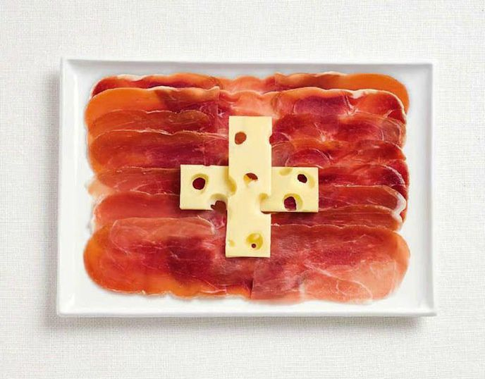 Drapeau Suisse - Fromage - Viande Froide - Picture - Free