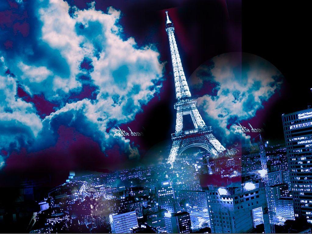 Tour Eiffel - Paris - Nuit - Wallpaper - Free