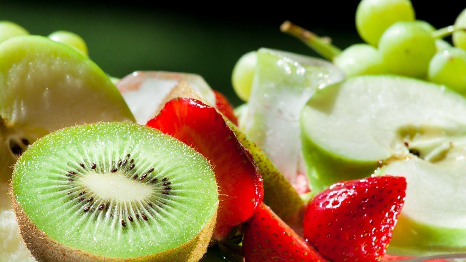 Kiwis - Fraises - Fruits - Wallpaper - Free