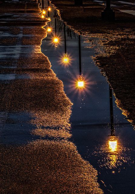 Lampadaire - Nuit - Reflet - Picture - Free