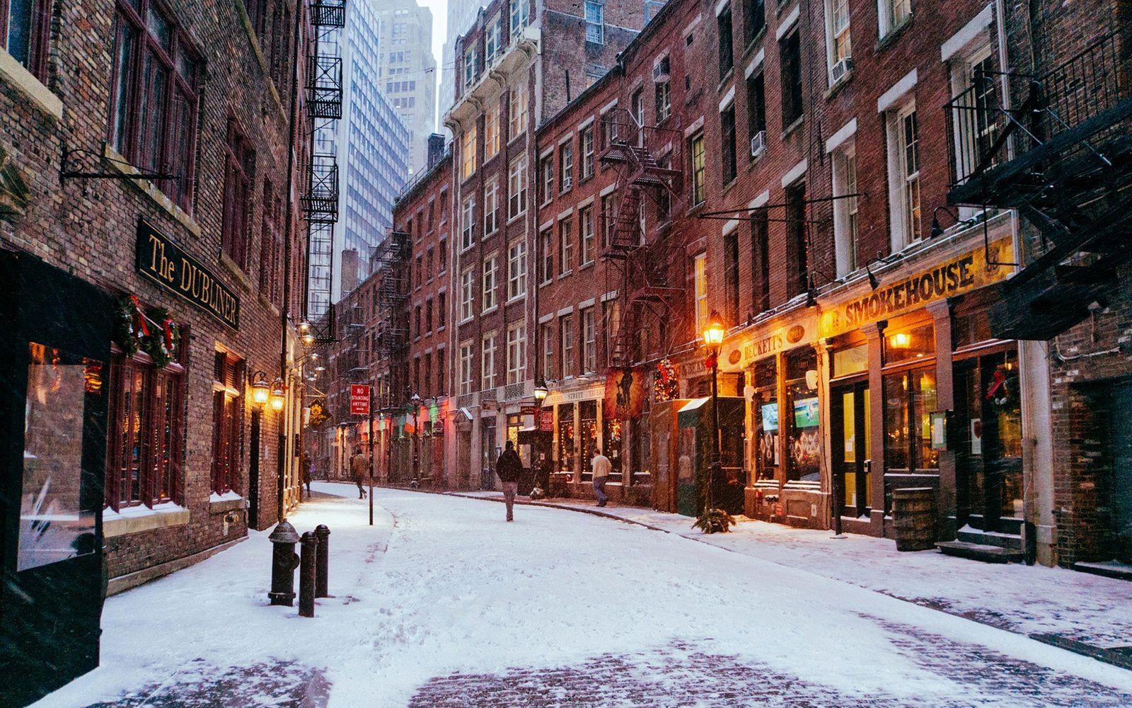 Ville - New-York - Manhattan - Neige - Wallpaper - Free