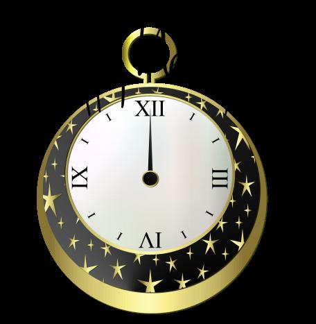 Happy New Year 2016 - Horloge - Render - Tube - Gratuit