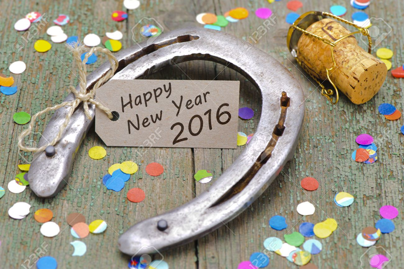 Happy New Year 2016 - Fer à cheval - Wallpaper - Free