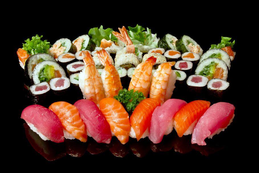 Bon appétit - Sushis - Saumon - Wallpaper - Free
