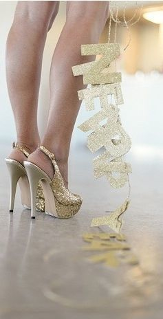 Happy New Year - Talons aiguilles - Paillettes - Picture - Free