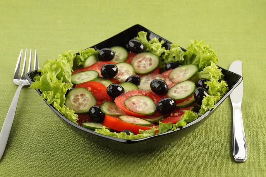 Bon appétit - Assiette - Salade - Wallpaper - Free