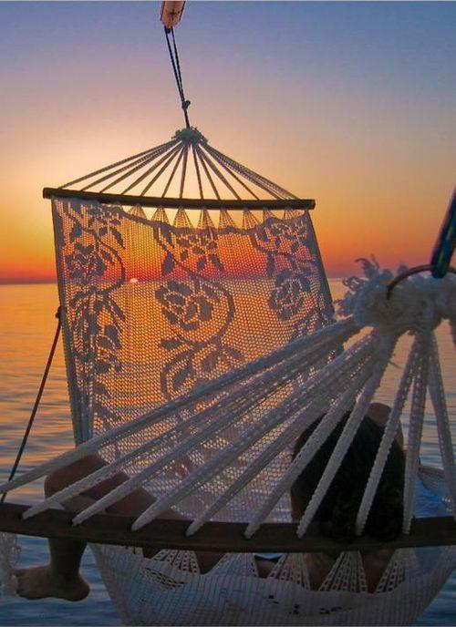 Hamac - Plage - Coucher de soleil - Zen - Picture - Free