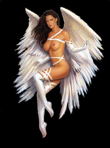 Femme - Brune - Sexy - Angel - Render - Tube - Gratuit
