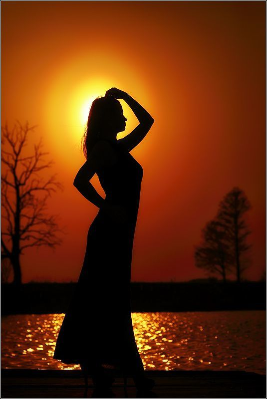 Femme - Silhouette - Soleil - Picture - Free