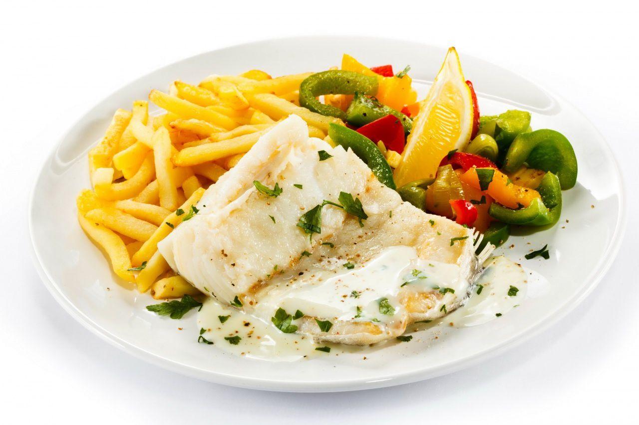 Bon appétit - Poisson - Frites - Légumes - Wallpaper - Free
