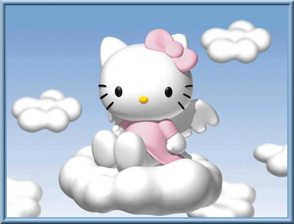 Hello Kitty - Chat  Nuages - Picture - Free