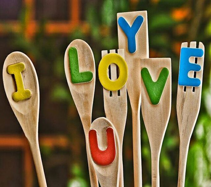 I Love you - Spatules - Bois - Message - Picture - Free