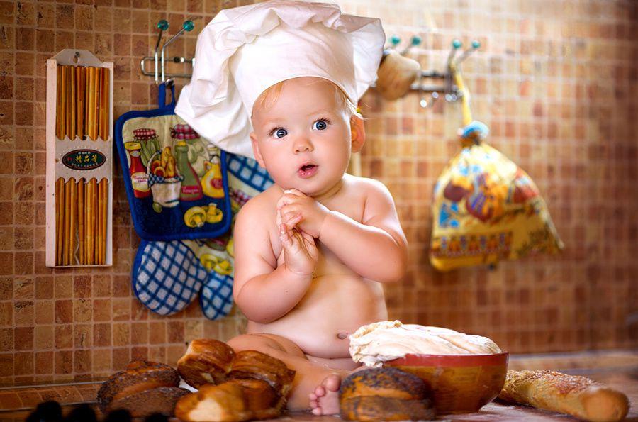 Bon appétit - Bébé - Cuisinier - Wallpaper - Free