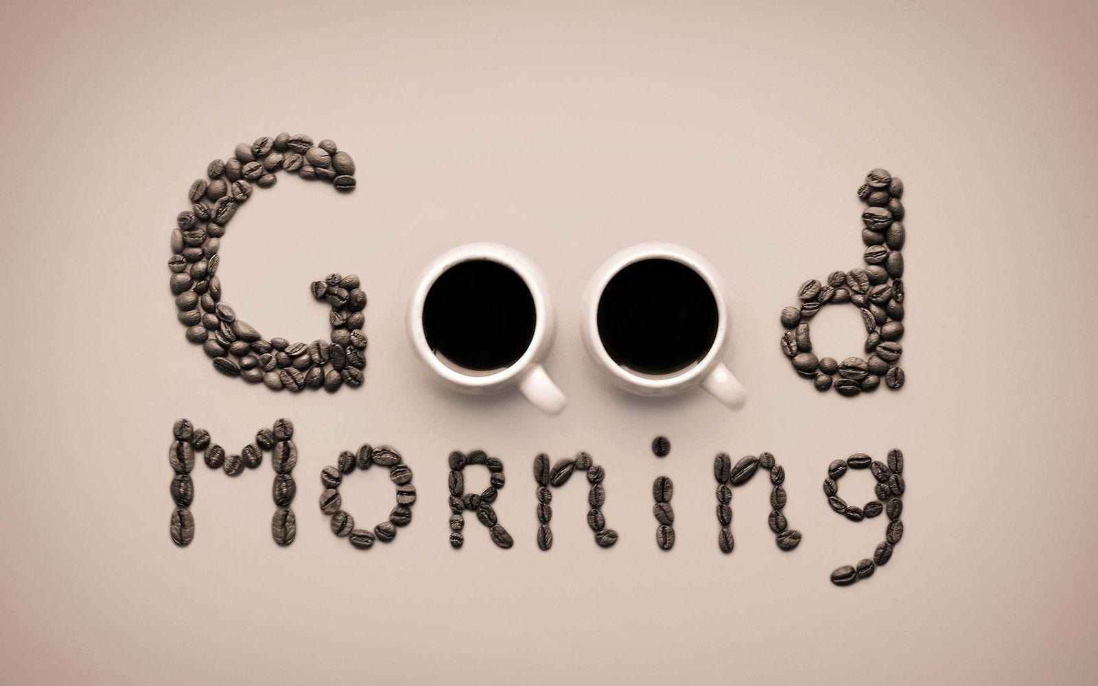Good morning - Tasses - Café - Wallpaper - Free