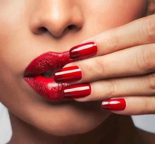 Bouche - Ongles - Rouge - Picture - Free