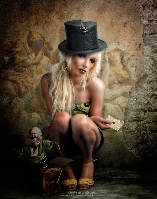 Femme - Blonde - Sexy - Chapeau - Picture - Free