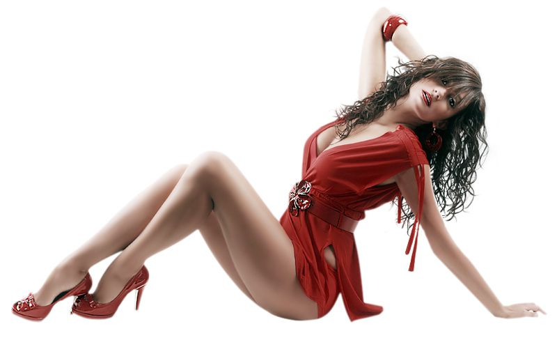 Femme - Brune - Sexy - Robe - Picture - Free