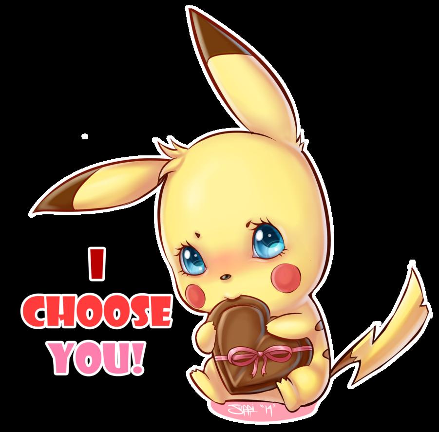 I choose you - Pokémon - Chocolat - Coeur - Render-Tube - Gratuit