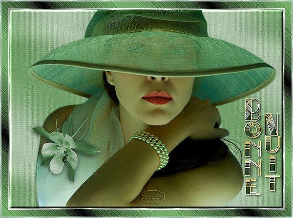 Bonne nuit - Femme - Chapeau - Création - Picture - Gratuit