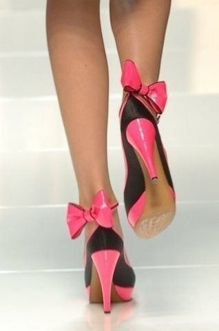 Talons aiguilles - Pink - Noeuds - Picture