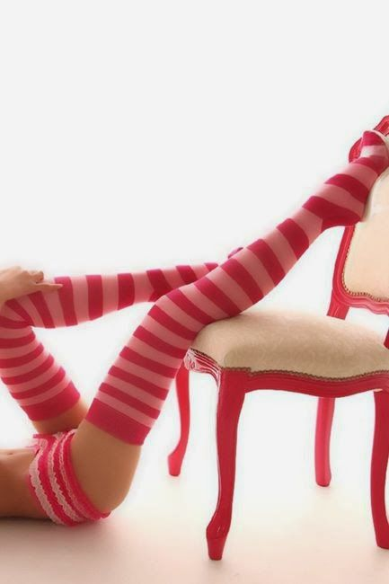 Femme - Sexy - Jambes - Rayures - Picture - Free