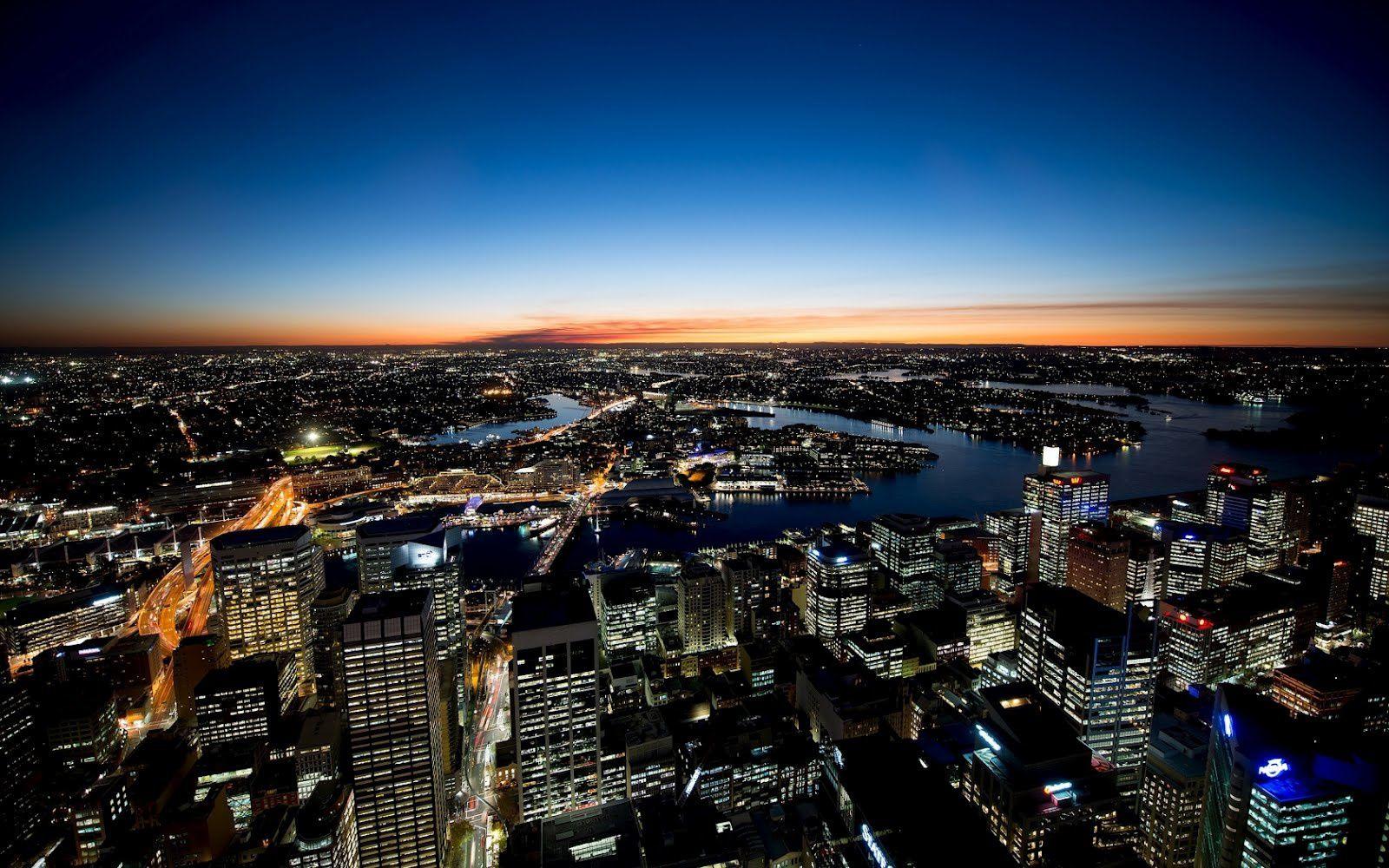 Sydney - Australie -  Nuit - Ville - Photographie - Wallpaper - Free