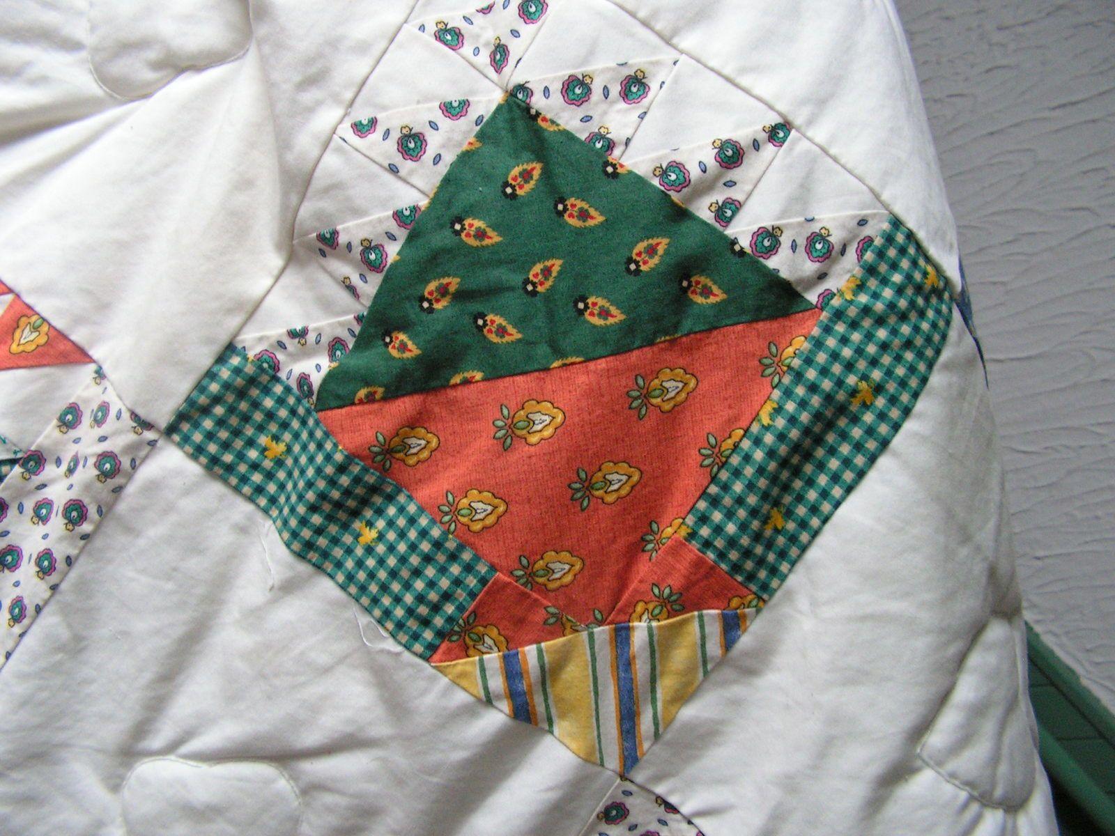 Patchwork pour un couvre lit