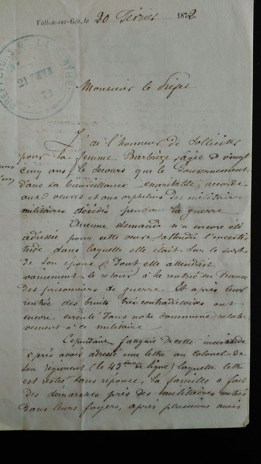 Archives départementales de la Sarthe-Dossier 3R94