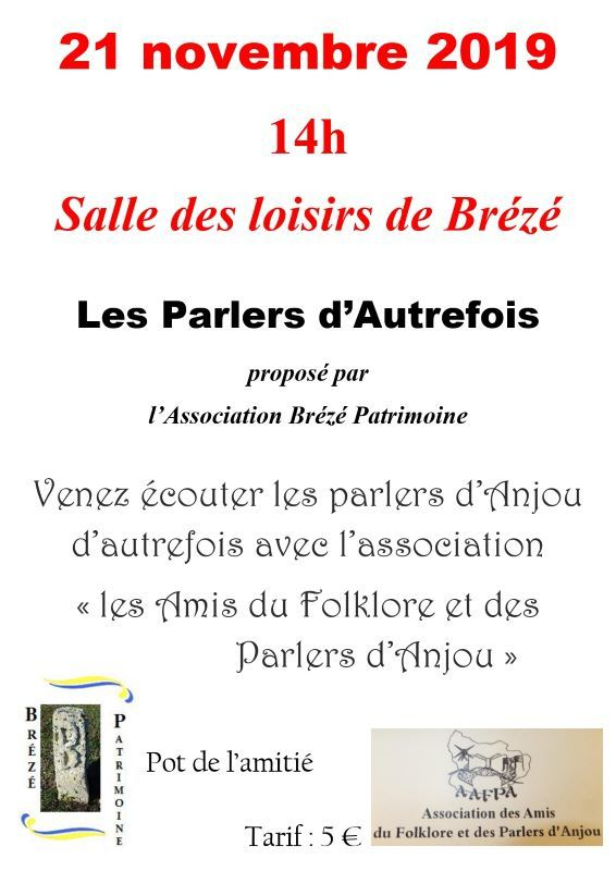 Les parlers d'autrefois en Anjou