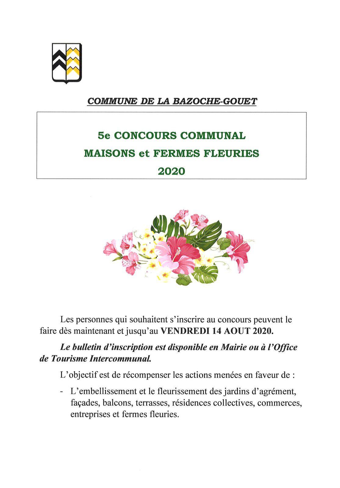 5ème CONCOURS COMMUNAL DES MAISONS ET FERMES FLEURIES