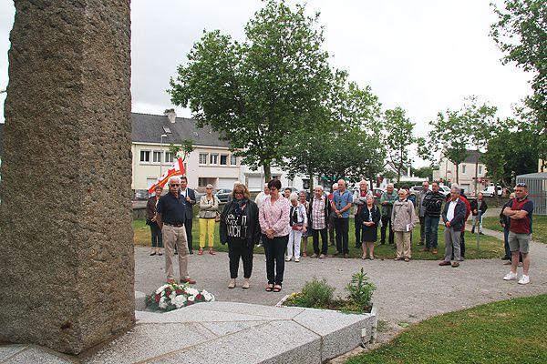 Allocution de Guy TEXIER, représentant du Comité Départemental du Souvenir de Loire Atlantique - Journée de la Résistance 2018 à TRIGNAC