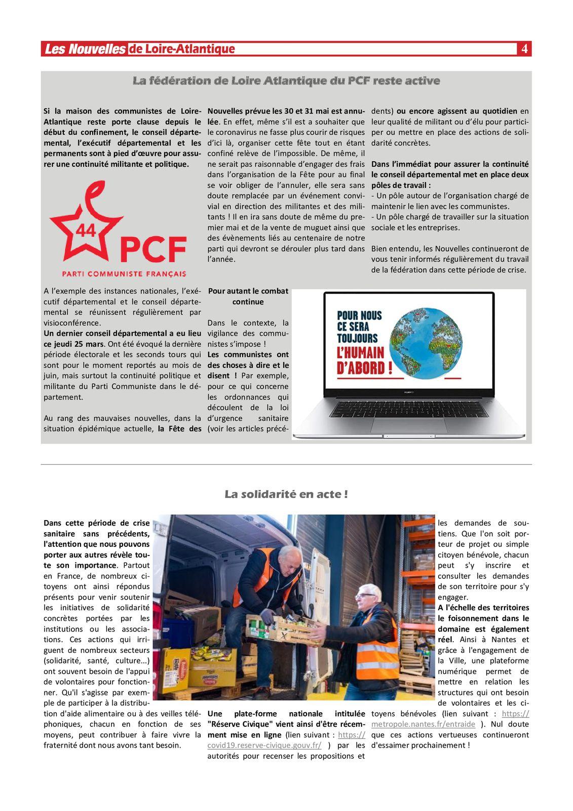 Les Nouvelles de Loire-Atlantique numériques - 27 mars 2020