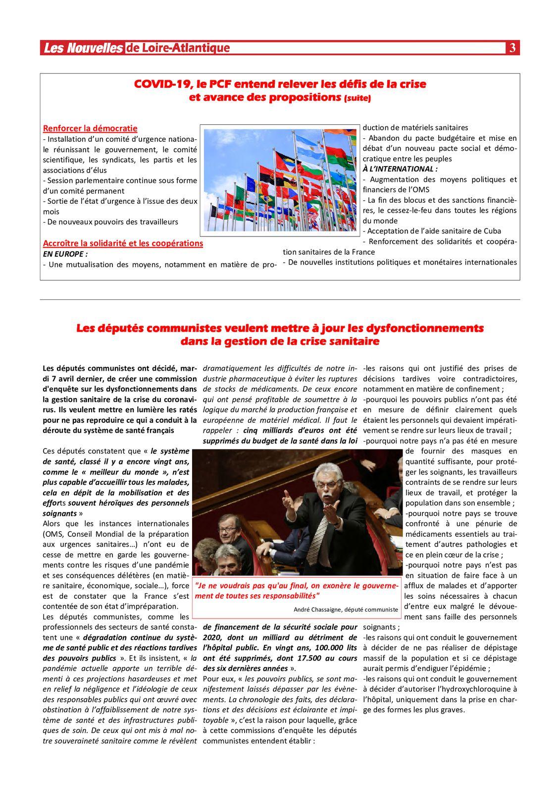 Les Nouvelles de Loire-Atlantique numériques du 10 avril 2020