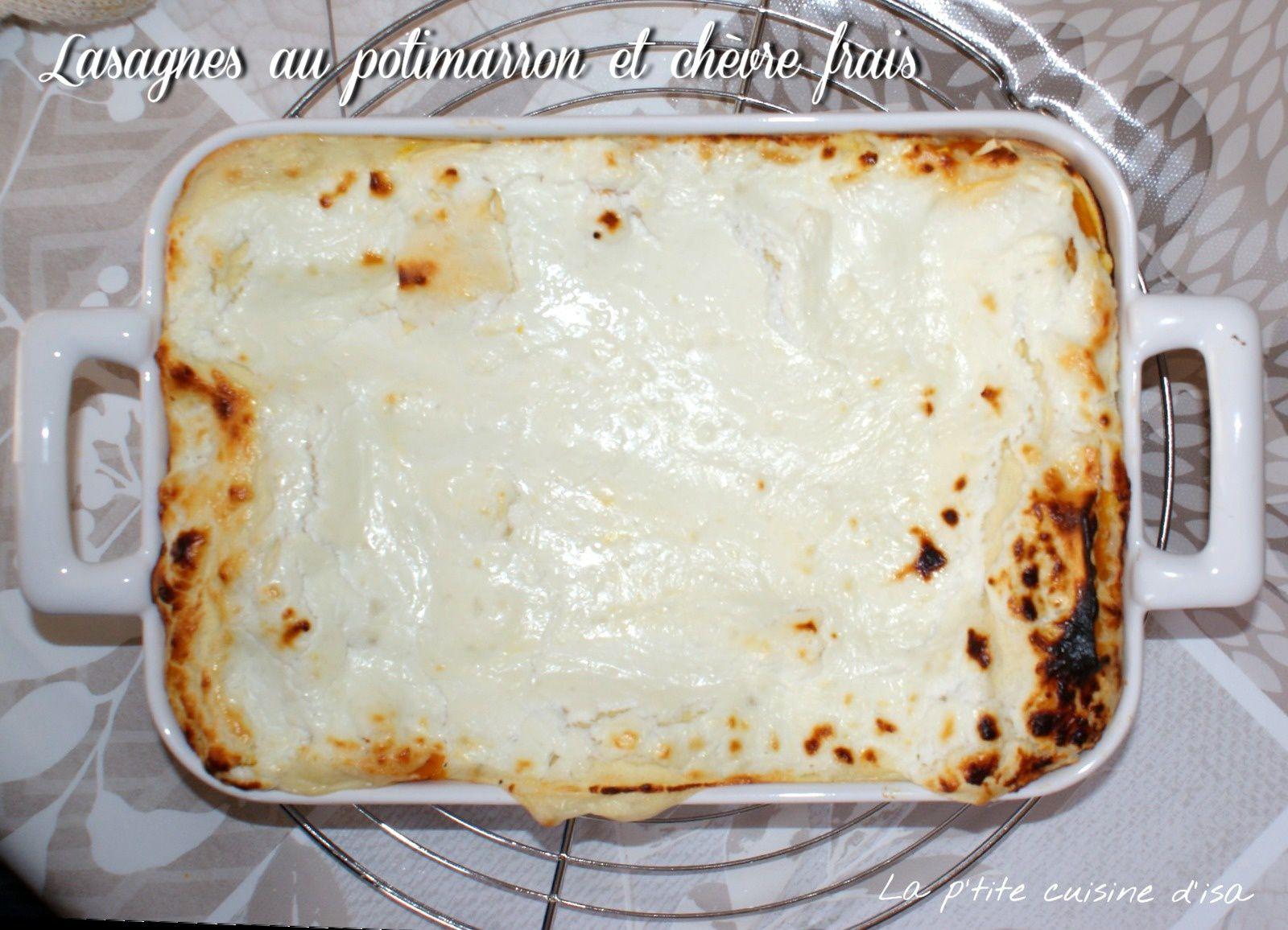 Lasagnes au potimarron et chèvre frais