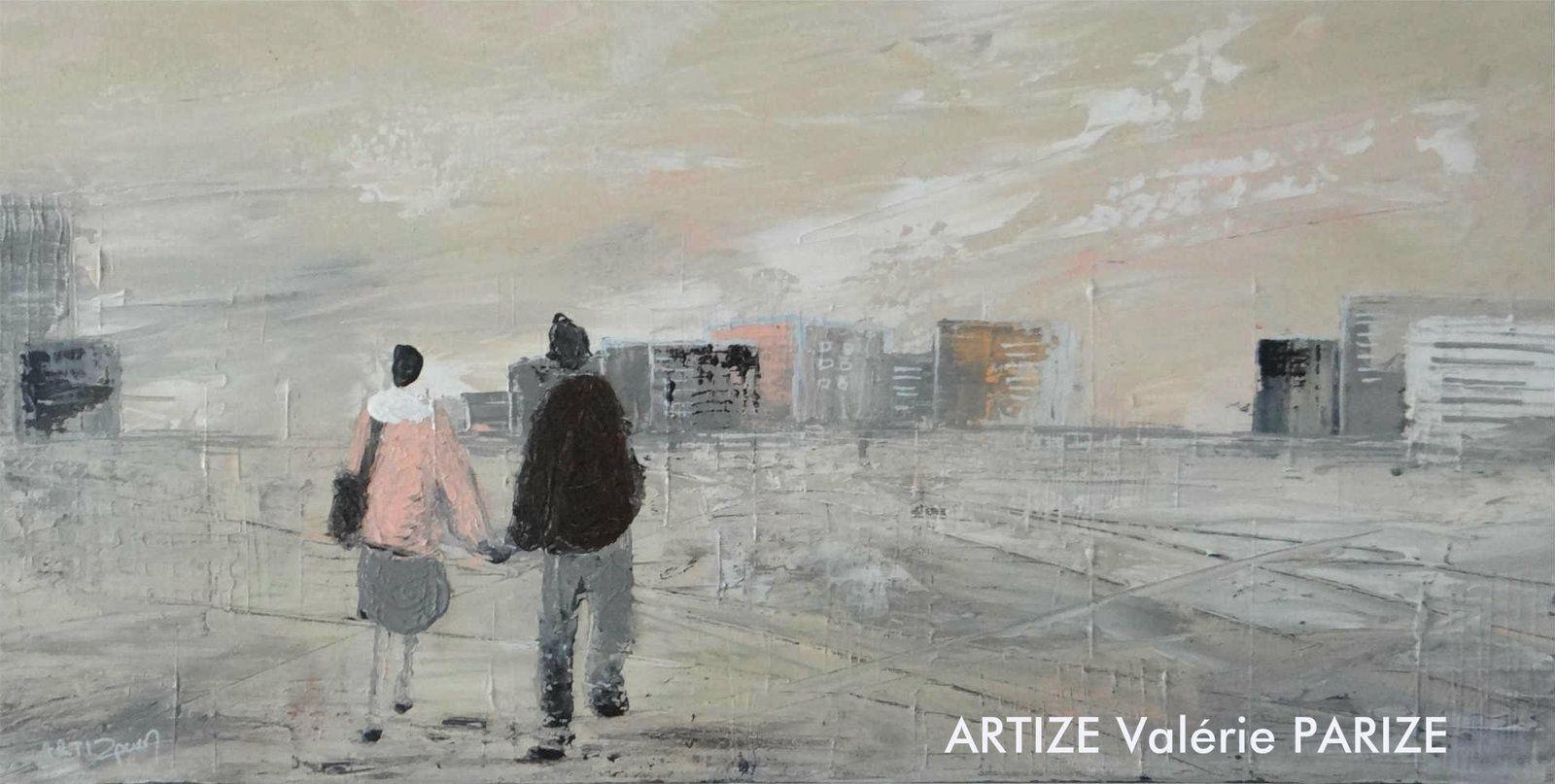 En rentrant chez soi ! peinture acrylique sur toile, format : 30x60 cm, disponible