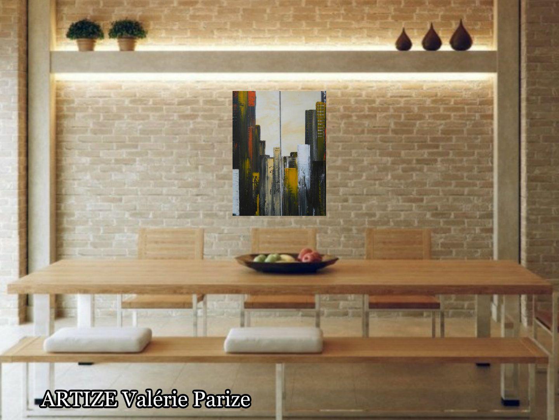 Sans titre pour le moment ????, peinture acrylique sur toile, 20x60 x2, Disponible