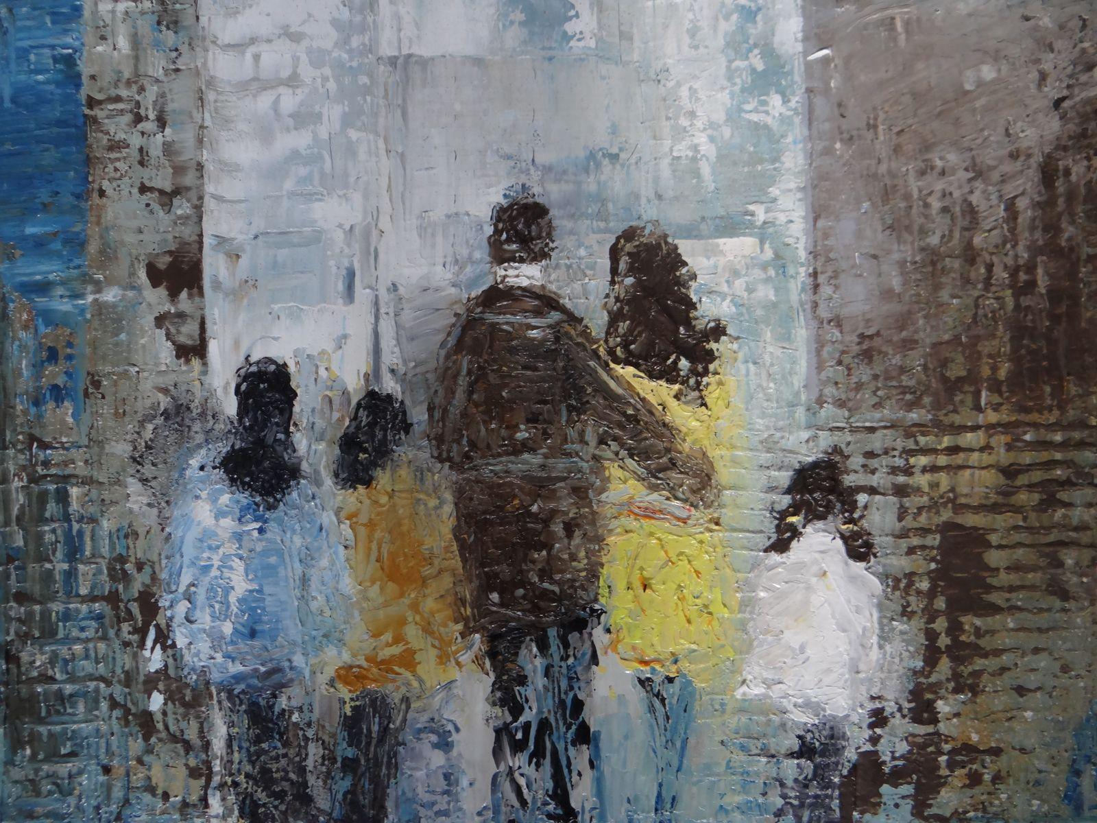 Ensemble, Huile sur toile, format 46x55 (10f), prix 280 euros