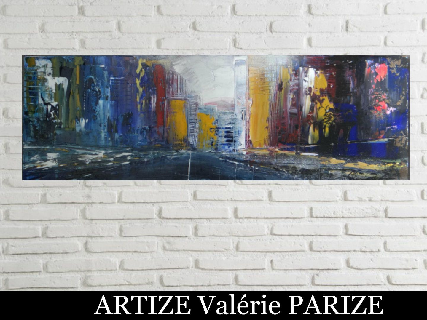 Panorama, huile sur toile, format 30x90, disponible