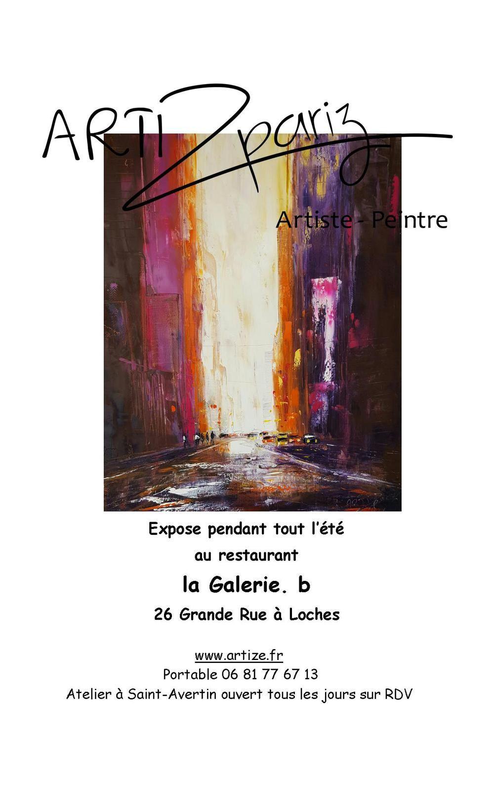 Expo au restaurant la Galerie B à Loches