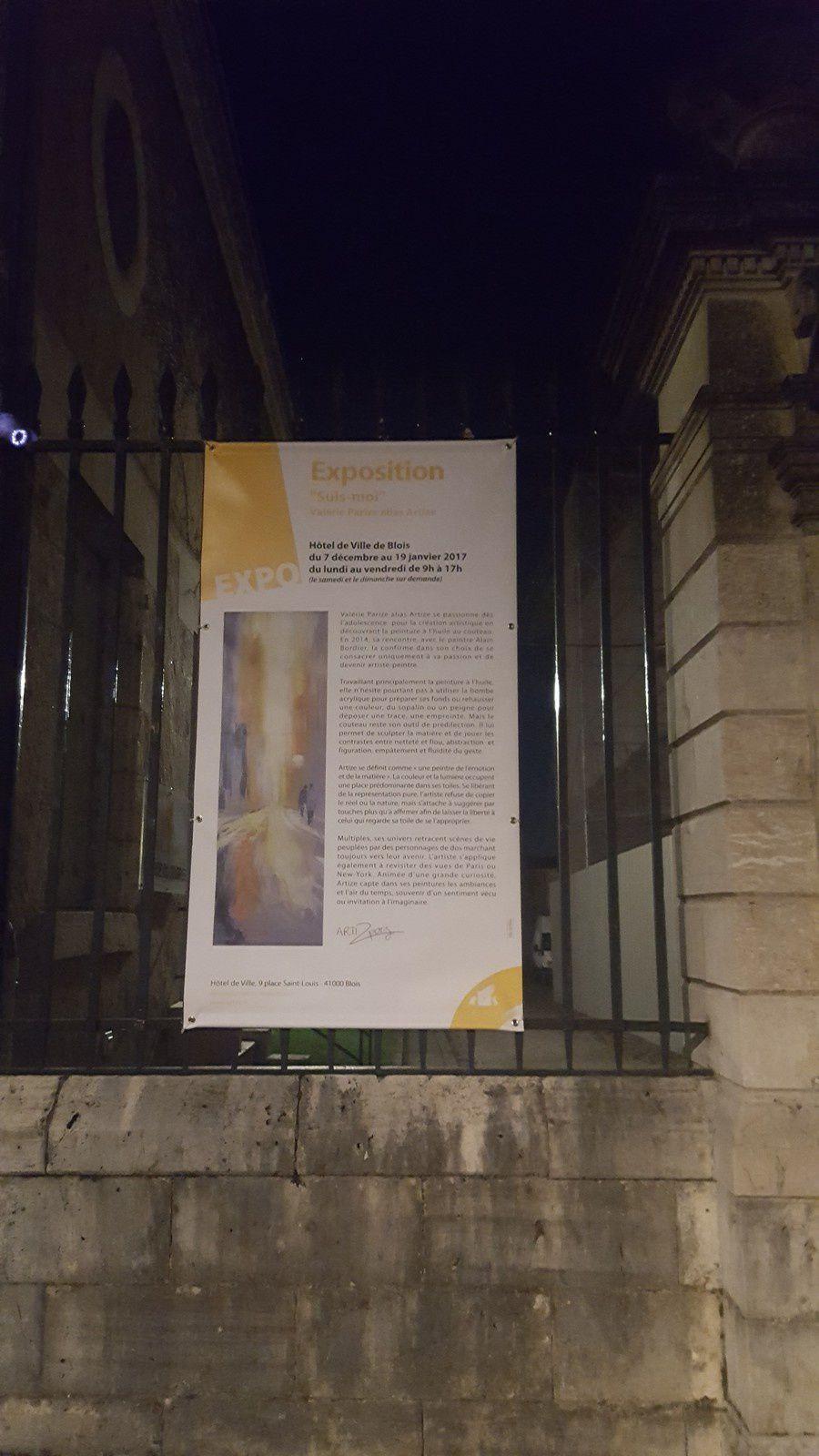 """Exposition """"Suis-moi""""  jusqu'au 19 janvier à l'Hôtel de ville de Blois"""