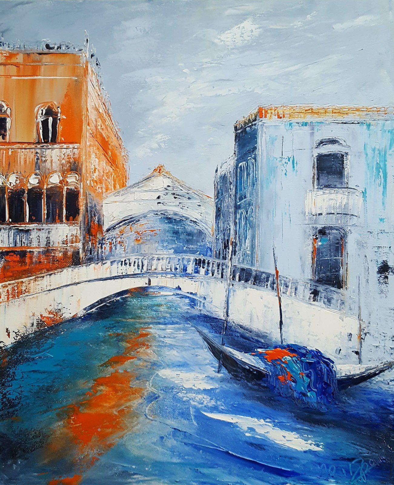 Le pont des soupirs, huile sur toile, format 46x38, disponible
