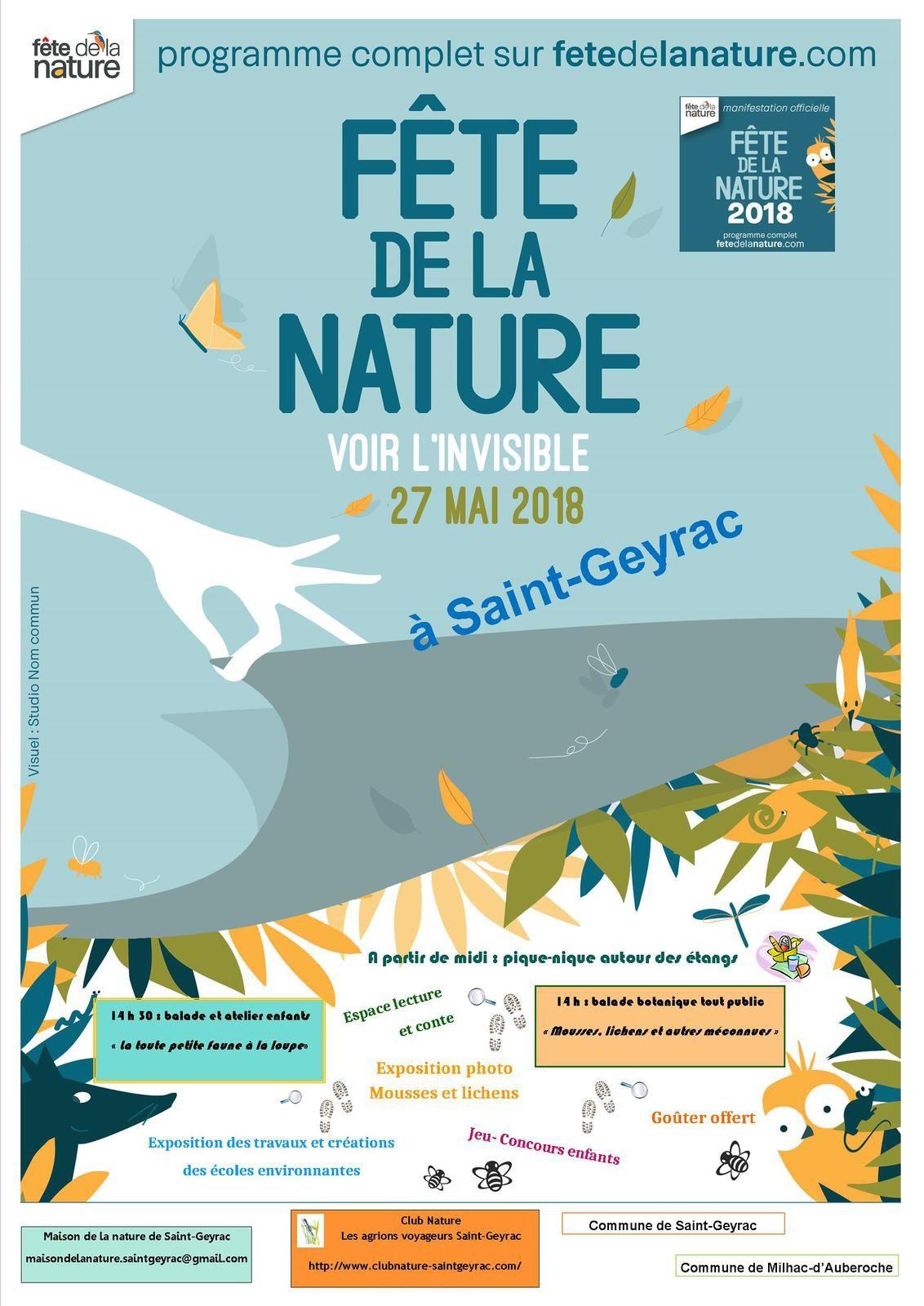 Affiche Fête de la nature 2018