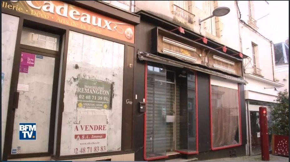 """""""La rue piétonne, symbole de la crise qui frappe la ville"""" selon BFM TV"""