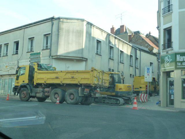 Les rues Gallerand et gaucherie fermées à la circulation ce lundi
