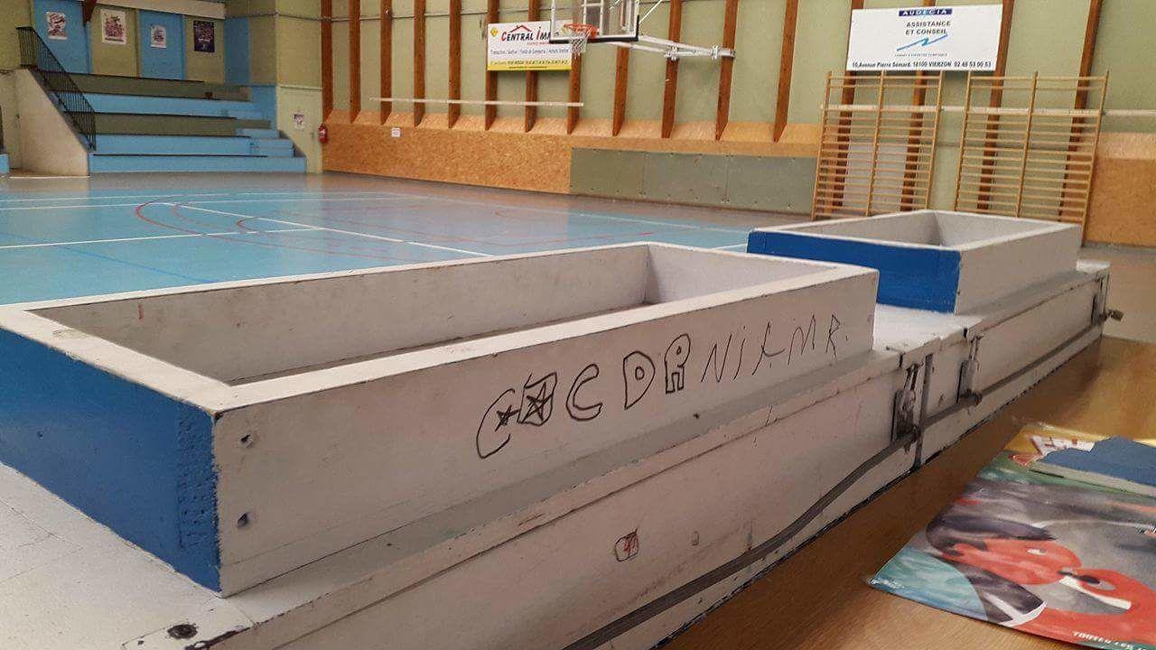 Actes de vandalisme au gymnase Sellier