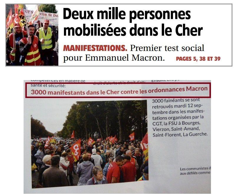 Le P.C augmente de 50% le nombre de manifestants dans le Cher !