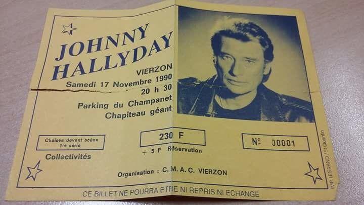 Philippe Didier : et voici le billet n° 1 du concert toujours dans mon portefeuille !!!!!