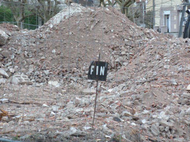 Voici ce qui reste de la cité du Bourdoiseau...